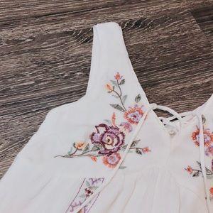 Xhilaration Dresses - White floral embroidered dress